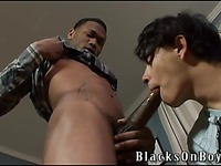 Black gay guys fuck Casanova blacksonboys and then shoot their loads on his face