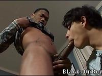 Black gay guys fuck Casanova blacksonboys and then shoot their loads on his face
