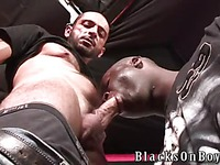 Tom Colt gets his firm ass drilled by black dick after they blow each other