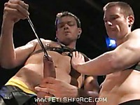 Billy Berlin and other models have fun filling their dicks with rigid steel rods