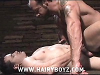 Brutal hairy gay men Antton Harri and Jake Deckard enjoy sex in the middle of the night