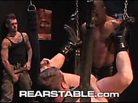 Bo Matthews, Logan McCree and Scott Alexander enjoy the orgy in gay leather club