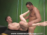 Gay friends Fabio Stallone and Kennedy Carter have nice oral foreplay to harder action