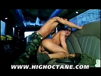 Hot gay men in military uniform Glenn Santoro and Tim Black have unforgettable sex in a limo