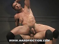 Strong muscle man Tony Aziz gets his butt banged with no mercy by horny as hell Steve Cruz