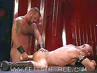 Brutal gay men Danny Mann and Ken Braun prefer big dildo to cock in this rough sex action