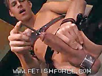 Sky Devil shows a trick making long thin steel rod disappear inside his dick